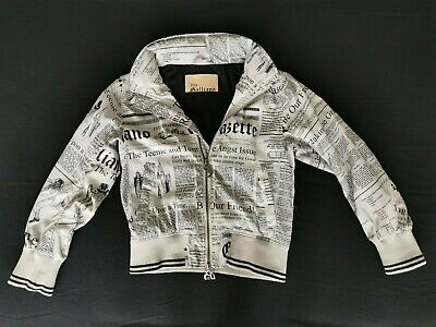Genuine John Galliano Newspaper Print Kid Jacket. Child Children Boy Girl