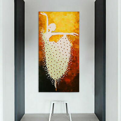Abstract Framed Hand Painted Oil Painting Canvas Modern Decor Art Ballet AU New