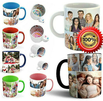 Personalised Mug Custom Photo Text Magic Collage Fathers Day Gifts Mug Birthday