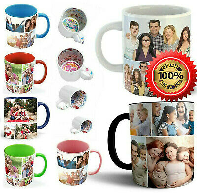 Personalised Mug Custom Photo Text Magic Love FREE Collage Valentines Day Gift