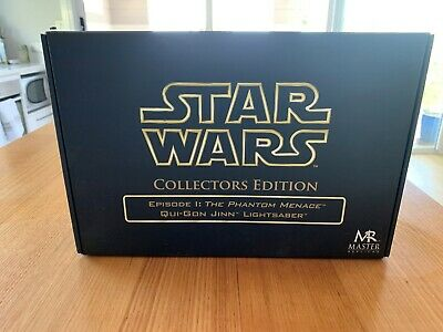 STAR WARS Qui-Gon Jinn Master Replicas 1.1 Scale Lightsaber Collectors Edition
