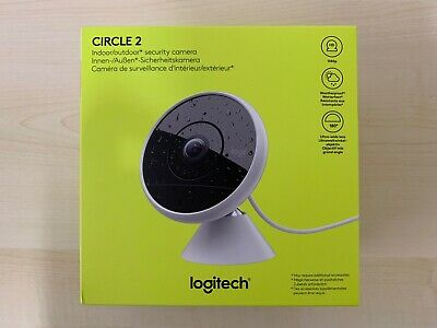 Logitech Circle 2 Indoor/Outdoor Wired Security Camera 1080P HD HomeKit #A22