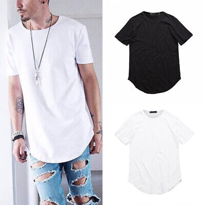 Men T-Shirt  Short Sleeve Loose Solid Color Shirt Tee Slim Casual Tops Style HQ