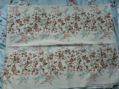 Vintage fabric material exclusive screen print Gibbs Fisher Monica yellow floral