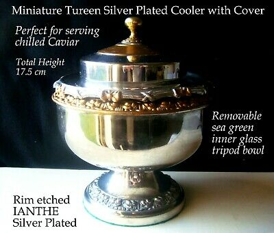 Silver Plated E.P.N.S Caviar cooler tureen and cover IANTHE maker