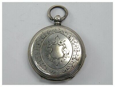 Antique late 19th century Victorian 800 Continental Silver fob pocket watch case
