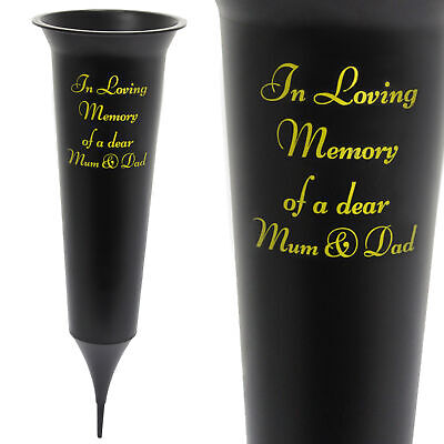 Memorial Graveside Spiked Flower Vase - In Loving Memory of a Dear Mum and Dad