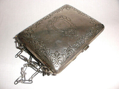 Antique Art Deco Sterling Silver Coin And Compact Case purse  WHSCO