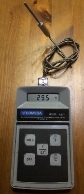 Omega Type E Thermocouple Thermometer Model 450Aet