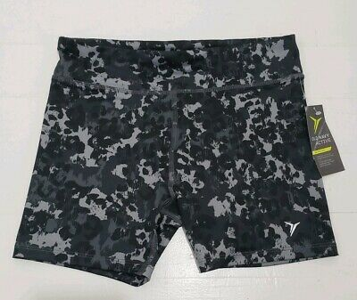 OLD NAVY ACTIVE COMPRESSION ACTIVE Shorts Black Gray Girl's Size XL, 14