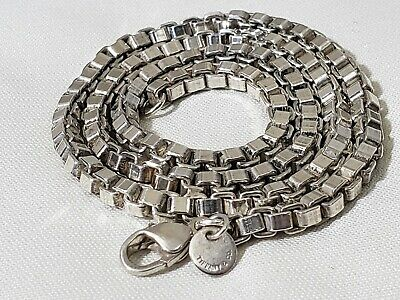 Tiffany & Co. Venetian Box Link Chain 18 Inch Necklace Sterling Silver 40 Grams