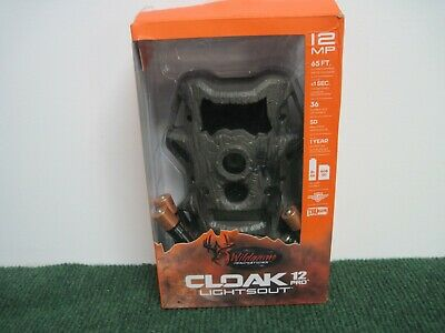 New Wildgame Innovations Cloak 12 Pro Lightsout Trail Cam Scouting Camera 12mp