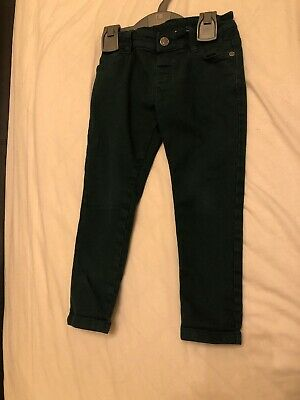 Boys Green M&S Jeans Age 3-4