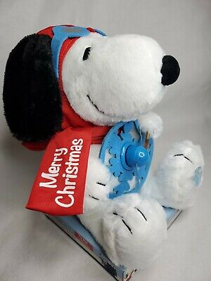 Snoopy Animated Musical Christmas Plush w// Trumpet Gyrates and Plays Linus and L