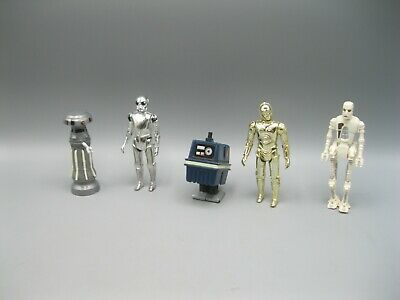 Lot of 5 Vintage Kenner Star Wars Droids, GONK, C-3PO, Death Star Droid, FX-7