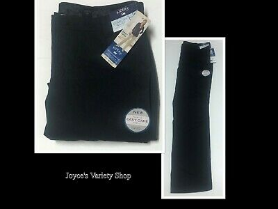 Lee Riders Black Pants Women Sz 16M Comfort Waist Tummy Control Slimming