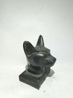 RARE ANTIQUE ANCIENT EGYPTIAN HEAD of Cat Bast-Bastet 945–715 BC (2)