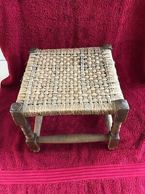 Antique Woven String Foot Stall