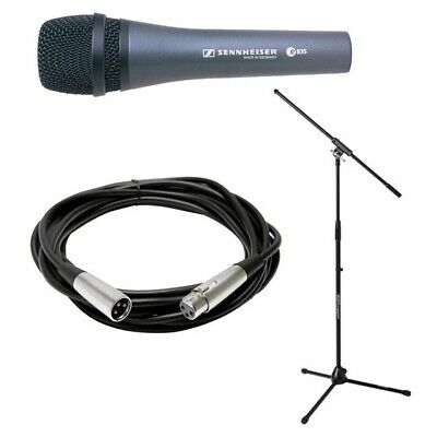 Sennheiser E835 Dynamic Vocal Microphone Stand Cable Pouch Bundle