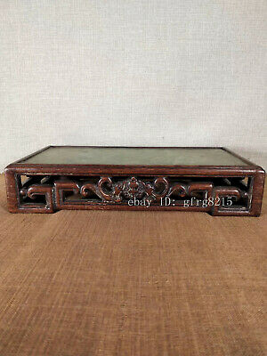 """12.6"""" Chinese antiques spend Lei Muk Handcrafted Mosaic jade Tea table"""