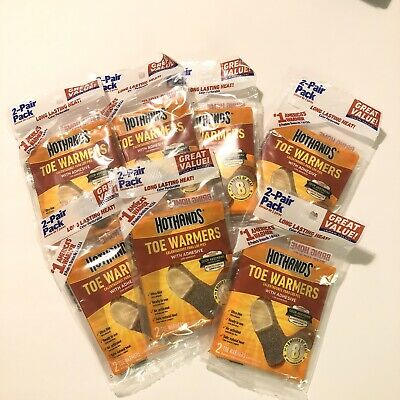 HotHands Toe Warmers with Adhesive 14 Pairs Total Exp 3/22