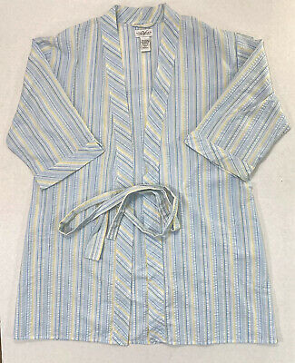 Villager A Liz Claiborne Company Nightgown Womens Small Short Sleeve Robe