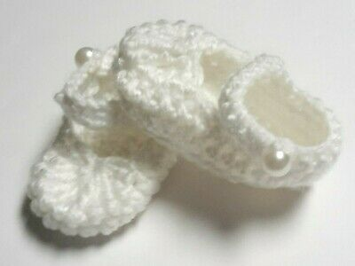 """White Mary Jane strap Baby Luvabella 14""""(35cm) doll booties/shoes Dolls Clothes"""