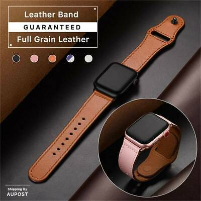 【Genuine Leather】Apple Watch Band Strap for iWatch Series 5 4 3 2 1 42 44mm NEW~