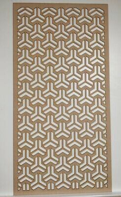 Radiator Cabinet Decorative Screening Perforated 3mm&6mm thick MDF lasercut EP2