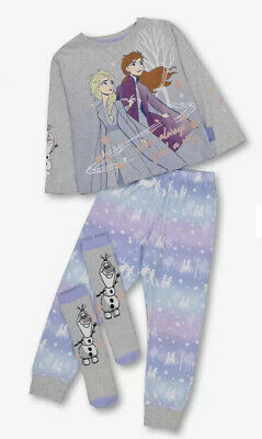 Tu Disney Frozen 2 Girls Pyjamas And Socks New 3-4 Years