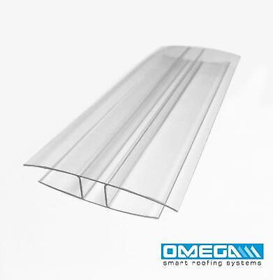 H Section | Joining Strip for 10mm Polycarbonate Sheets-2m & 3m lengths, Clear