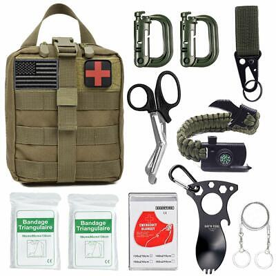 11 in 1 Outdoor Survival Gear Kits Camping SOS EDC Self Defense Emergency Kit