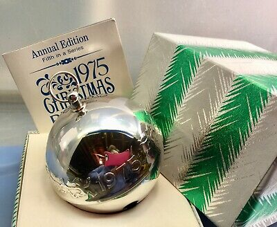 1975 Wallace Annual Silver Plate Sleigh Bell Ornament Fifth in The Series