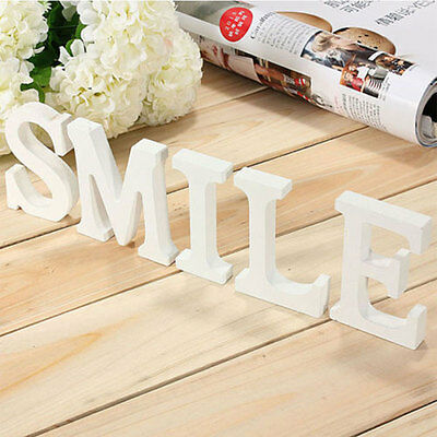 White Wooden Letters Wedding Birthday Home Bar Nursery Wall Hanging Name Signs