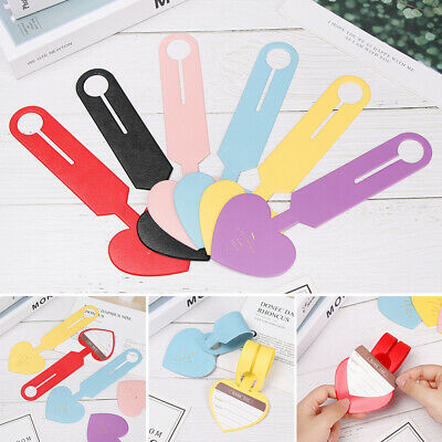 Heart Shapes Leather Luggage Tag Suitcase Baggage Boarding Portable Label