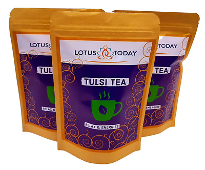 Organic Tulsi Tea Stress & Anxiety Relief *SLEEP AID* Relax tea Tulsi GreenTea