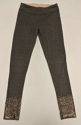 SO Perfectly You Girls Gray Sparkle Leggings Pants Size 12 Elastic Waist