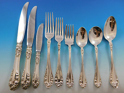Normandie by Northumbria Canada Sterling Silver Flatware Set Service 59 pieces