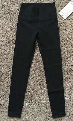 Ivivva Size 7 Rhythmic Tight High Low Black BLK Luon Pant Roll Down Hi Rise NWT