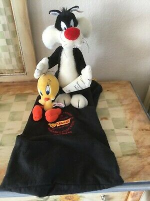 STEIF TWEETY and SYLVESTER mohair, brand new, Ltd ed, Warner Bros, Looney Tunes