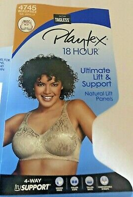 WOMEN'S PLAYTEX 18 HOUR(4745)*SIZE 44 choose ULTIMATE LIFT AND SUPPORT  BRA
