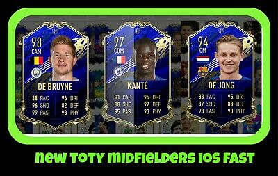 Pacybits Fut 20 New Toty Midfielders Ios Fast Delivery