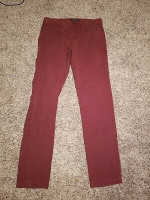 American Eagle Outfitters | Burgundy | Khacki Pants | 28x32 | 360⁰ Extreme Flex
