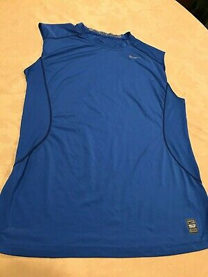 Nike Pro Combat Men's Fitted Dri Fit -Tank Top/ Sleeveless/Muscle Shirt- Large