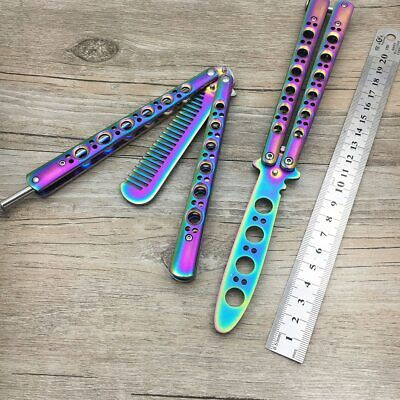 440 Stainless Steel titanium coating tool knife butterfly training knife