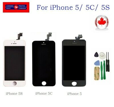 Replacement LCD Display Touch Screen Digitizer Assembly for Black iPhone 5 5C 5S