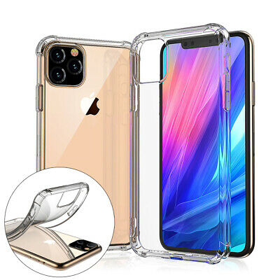 For iPhone Case 11 Pro XR 7 8 XS Max Bumper Shockproof Silicone Protective Cover