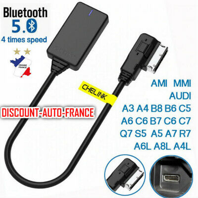 KIT BLUETOOTH AUDIO MP3 AUTORADIO AUDI MMI 3G,3G High,3G+ A4 A5 Q3 A7 A6