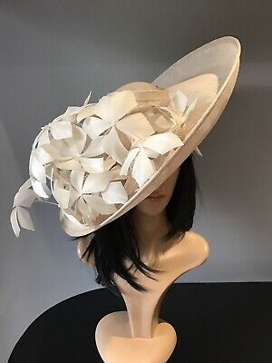 PETER BETTLEY Oyster Beige WEDDING HATINATOR HAT MOTHER OF THE BRIDE OCCASION
