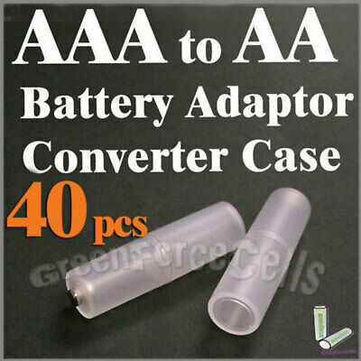 8 Pieces AAA to AA Size Cell Battery Converter Adaptor Holder Case Switcher A16
